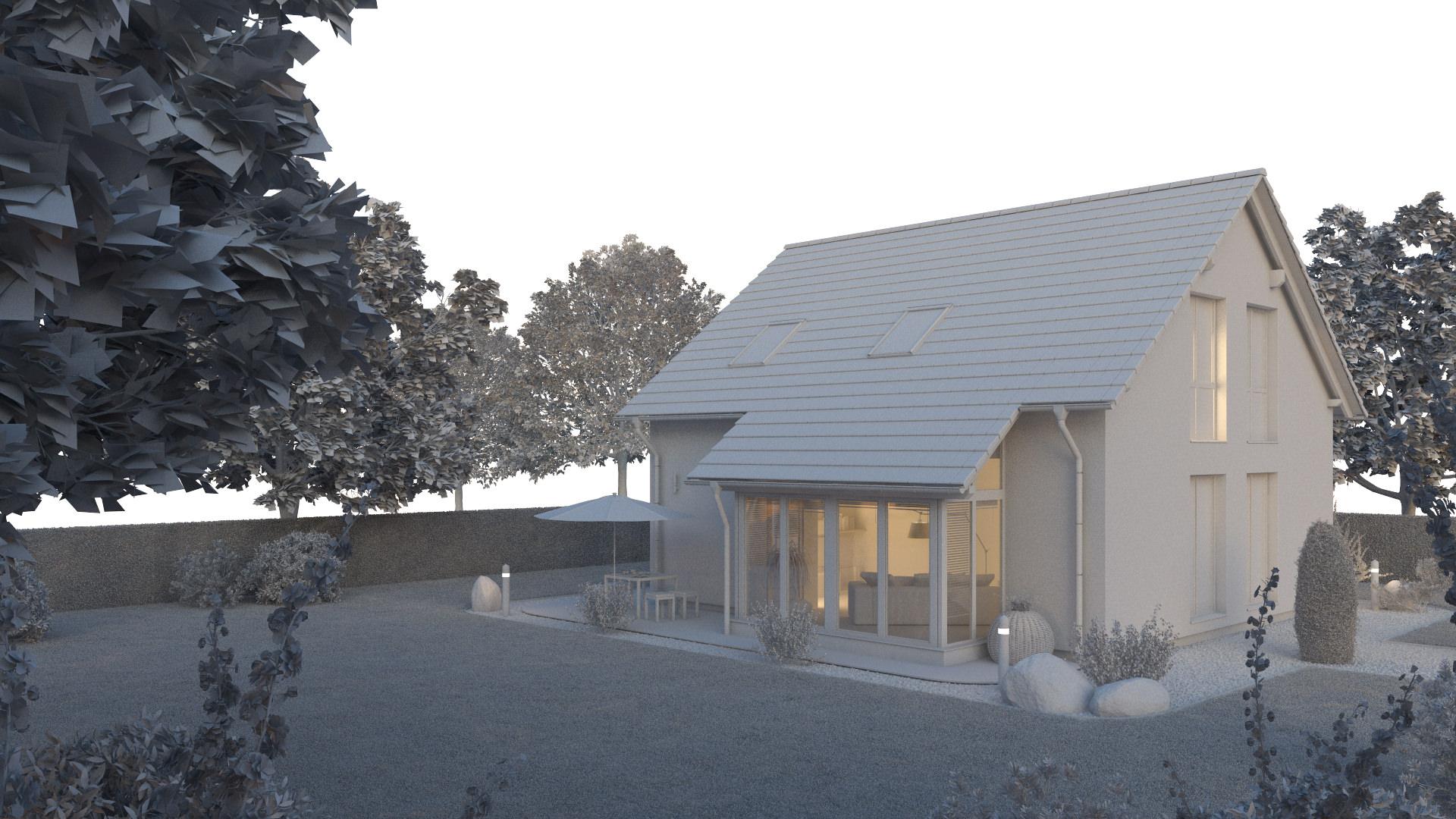 Ein SteinHaus 3D Visualisierung CGI Agentur